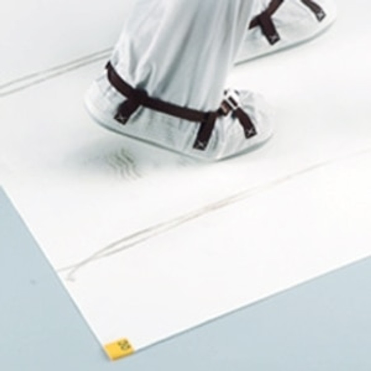 """Get Cleanroom Adhesive Mats, 18"""" x 36"""", White, 4/case TMAT1836-WH at Harmony"""