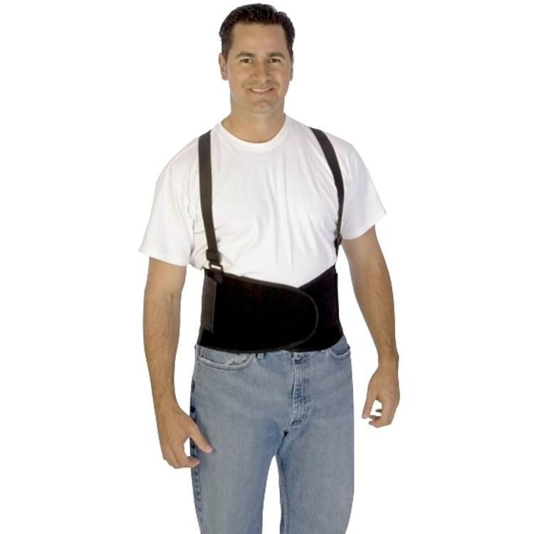 Get Durawear Back Support Belt with Detachable Suspenders, Black LB1909 at Harmony