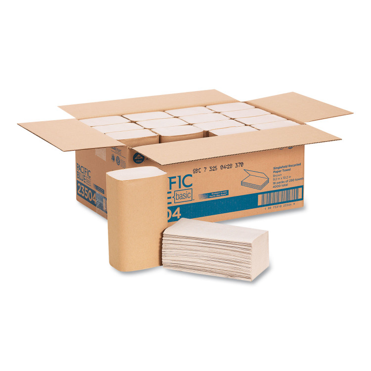 Get Pacific Blue Basic Kraft Single-Fold Towels, 4000/case L23504 at Harmony