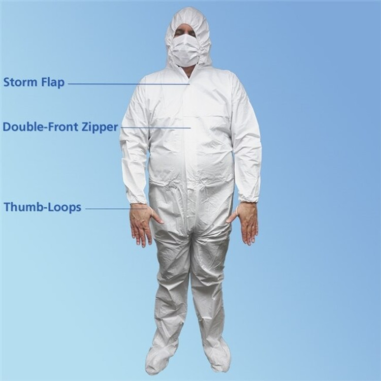 Microporous Coveralls with Hood & Boot