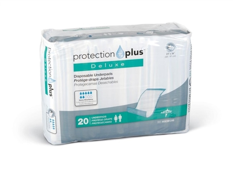 """Get Protection Plus Underpad, Deluxe, 23"""" x 36"""", 120/cs MSC281248 at Harmony"""