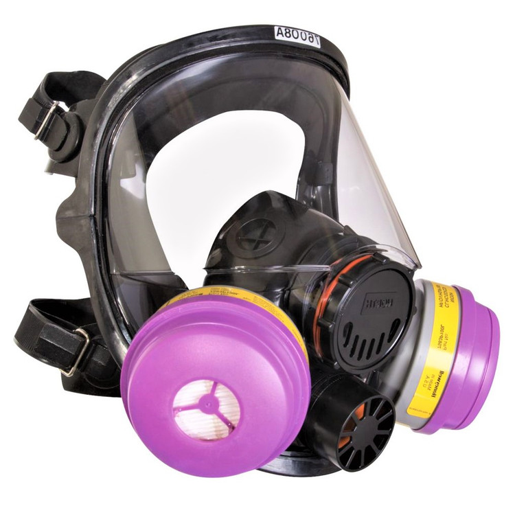 Honeywell North 7600 Series Air Purifying Respirator | Full Silicone Facepiece | 760008A | 821812000473 | by Harmony
