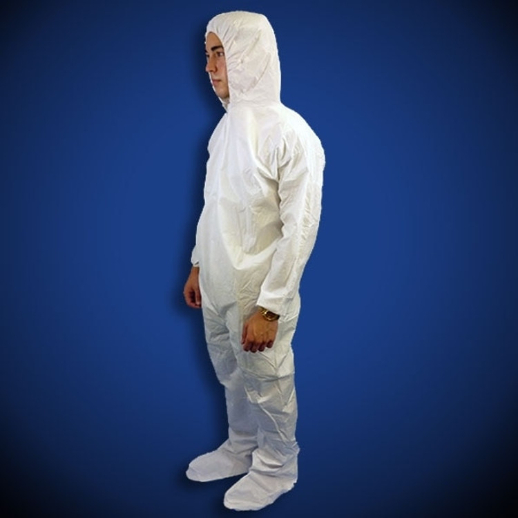 Get KeyGuard White Microporous Coveralls with Hood & Boot, 25/cs T190-MPC at Harmony