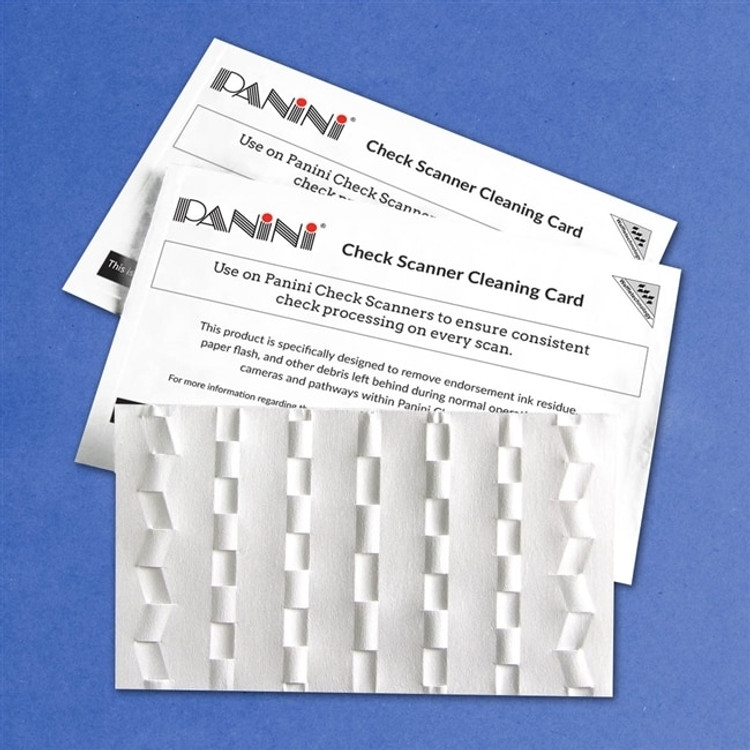 Panini Check Scanner Cleaning Card, 15/box