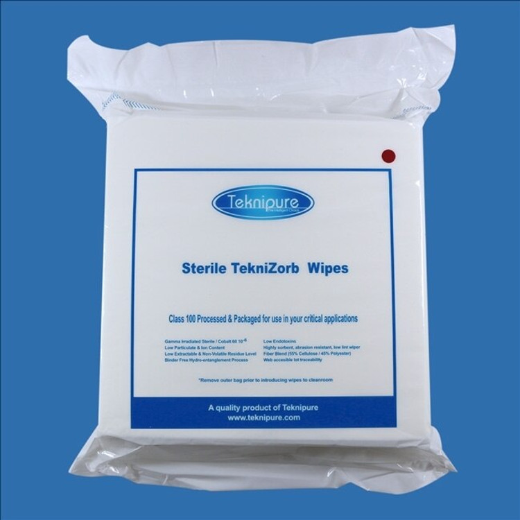 """Get TekniZorb 9"""" x 9"""" Sterile Poly/Cell NonWoven Cleanroom Wiper, 100/bag, 30 bags/cs TZ199S at Harmony"""