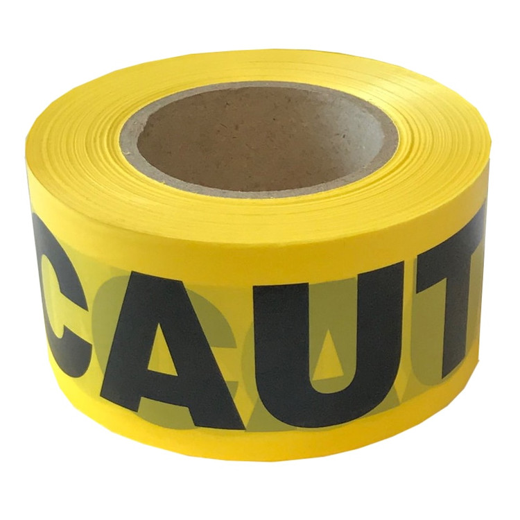 "Cordova Safety T15101 Yellow CAUTION Barricade Tape, 1.5 mil, 3"" x 1000'"