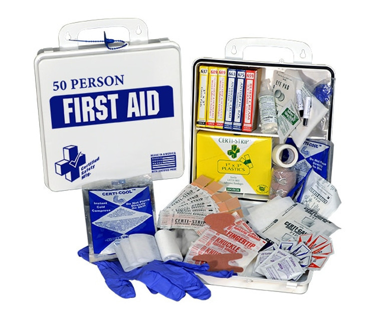 Certified Safety K610-033  First Aid Kit, 50 Person, Plastic Case at Harmony
