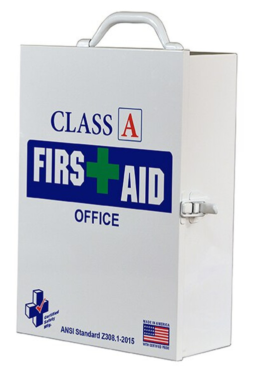 Certified Safety K616-015 75V First Aid Kit, 75 Person, Metal Case, Class A, at Harmony