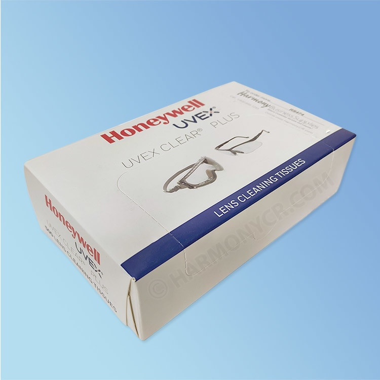 Uvex Clear Plus Lens Cleaning Tissues, 500/box | Harmony Lab and Safety Supplies