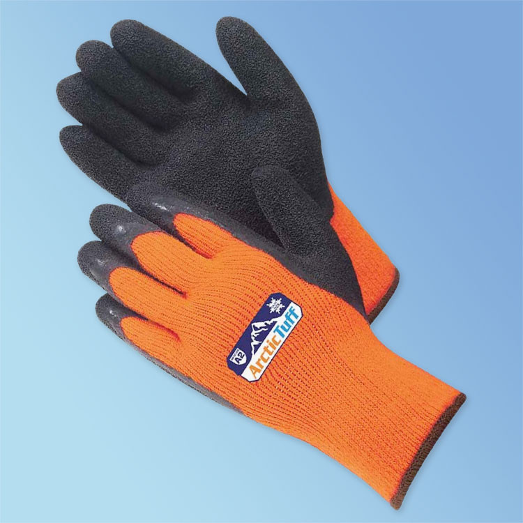 Get Arctic Tuff Foam Latex Coated Gloves with Thermal Shell, Hi-Vis Orange/Black LBF4789HO at Harmony