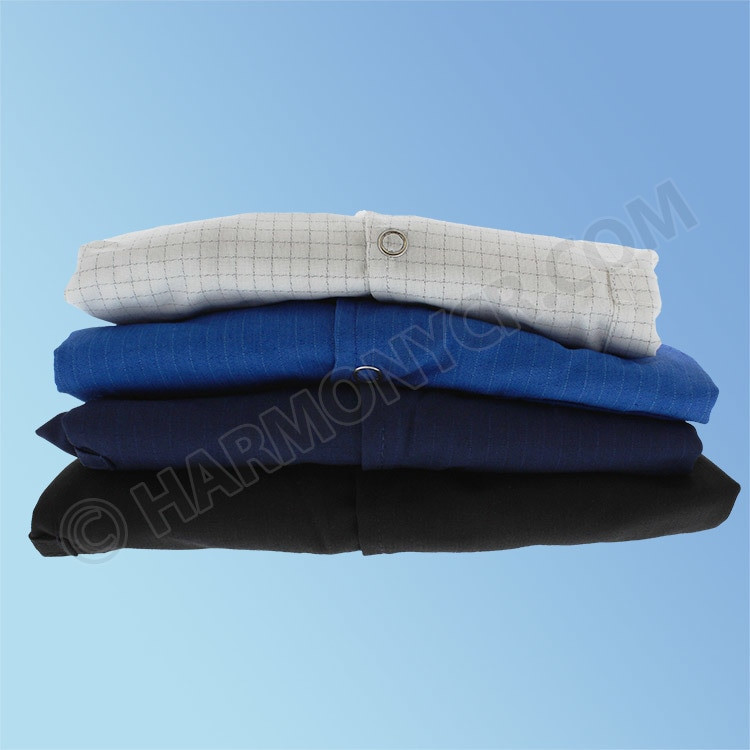 Get ESD Poly/Cotton Lab Coats, Knit Cuff, in multiple colors at Harmony