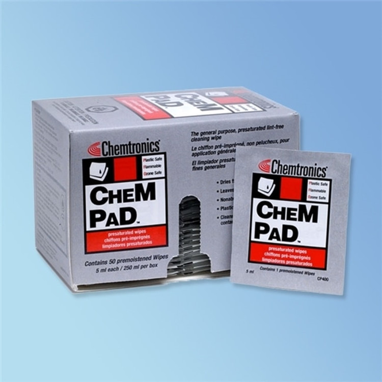 Get Chemtronics 91% Alcohol Wipes, 50/box, 4 boxes/pack XCP400-4P at Harmony