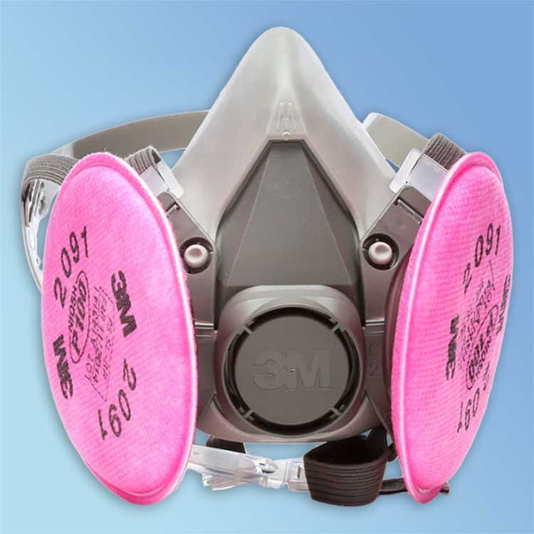 Get 3M Reusable Half Facepiece Respirator Kit includes 3M 6000 Series Respirator and 3M P100 Particulate Filters at Harmony