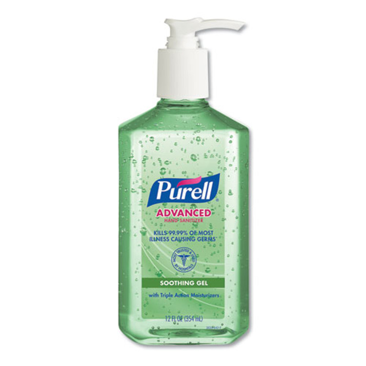 Get Purell Advanced Hand Sanitizer, Soothing Gel, 12 oz. Pump Bottle (X3639) at Harmony