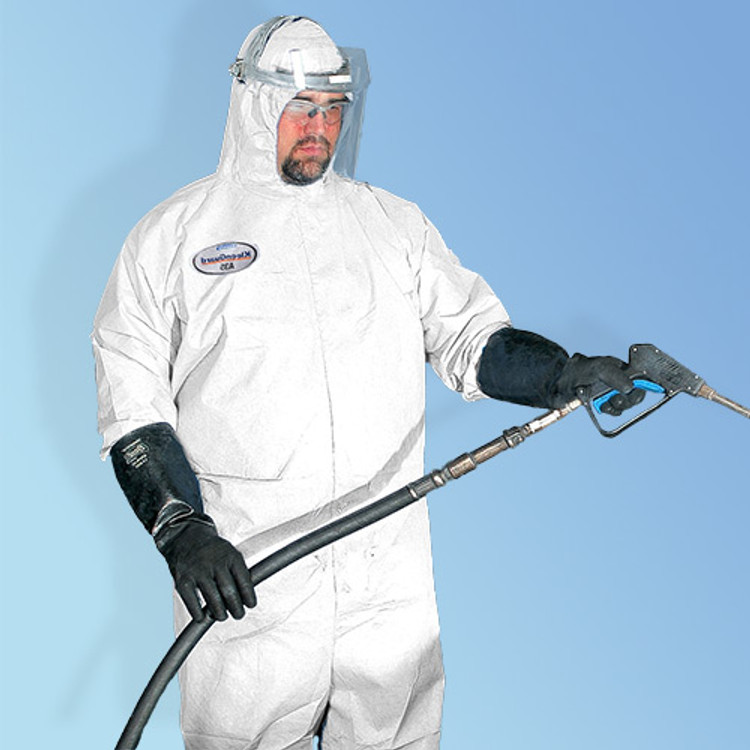 Get KleenGuard A35 Microporous Coveralls with hood, White, 25/case (T185-A35) at Harmony