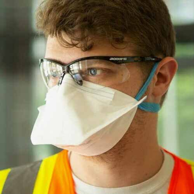 Jackson Safety 64235 NIOSH-Approved N95 Pouch-Style Disposable Respirator, 50/box. Easy-to-breathe pouch chamber. Lightweight and cool. Save at Harmony.