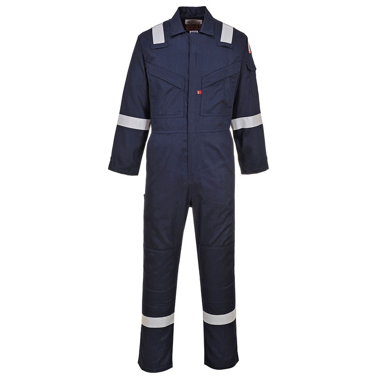 Bizflame Lightweight AR/FR Antistatic Coverall, Arc Rated CAT 2, Navy (UFR21NRR) by Harmony Lab & Safety Products