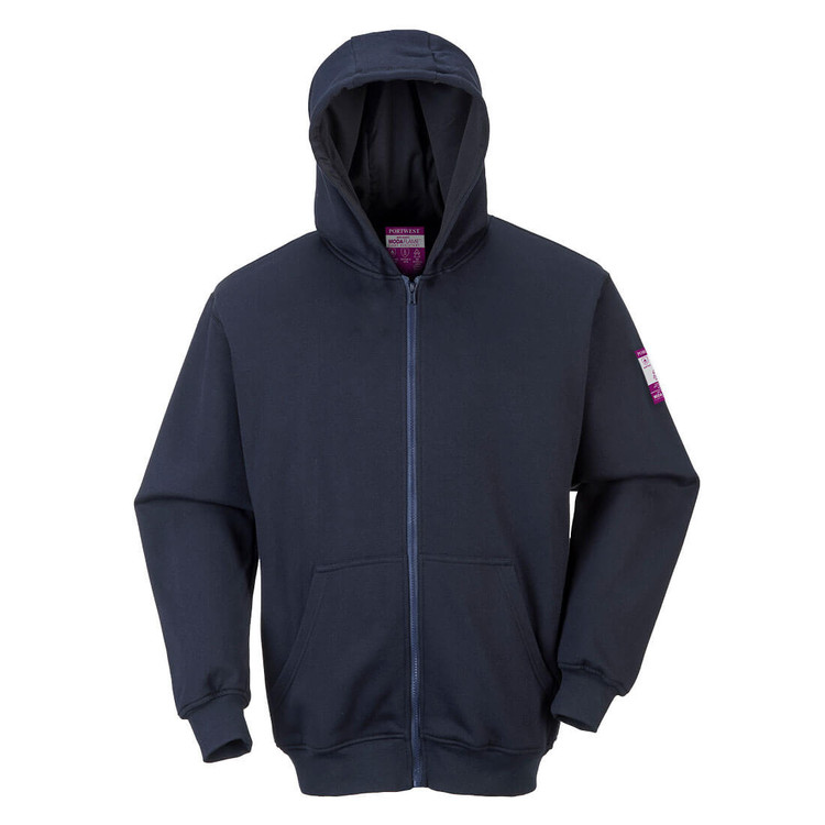 Get Portwest ARC 2 Flame Resistant Hooded Sweatshirt, Navy (UFR81) at Harmony Lab a& Safety Supplies