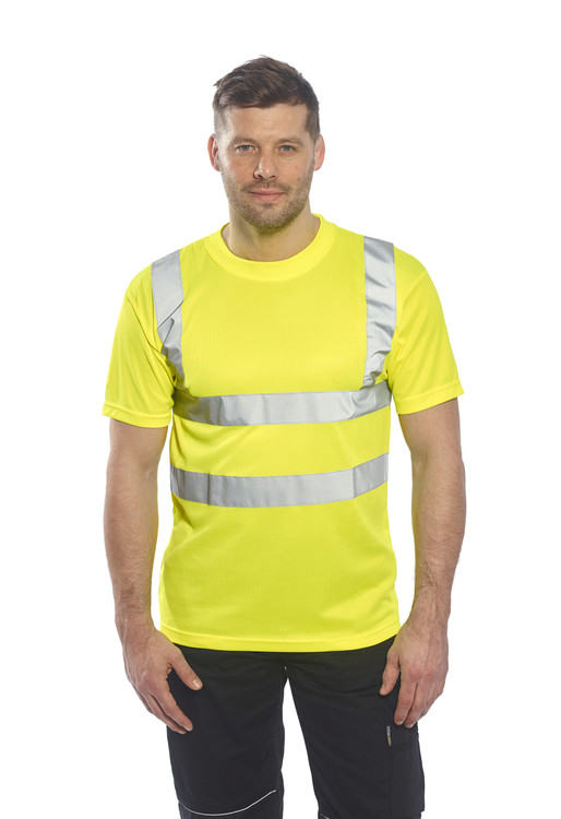Portwest S478 Class 2 Hi-Vis Safety T-Shirt, Yellow by Harmony Lab & Safety Supplies