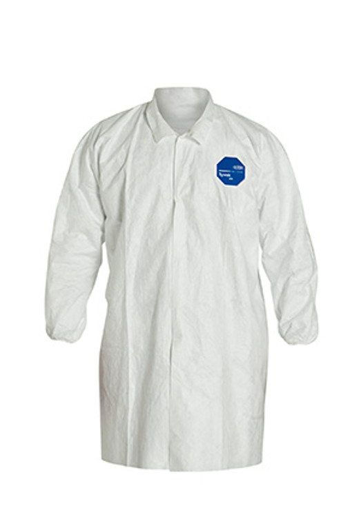 Get Tyvek TY211S Frocks, Elastic Wrist, Snap Front, 30/cs TY210S at Harmony Lab & Safety Supplies.