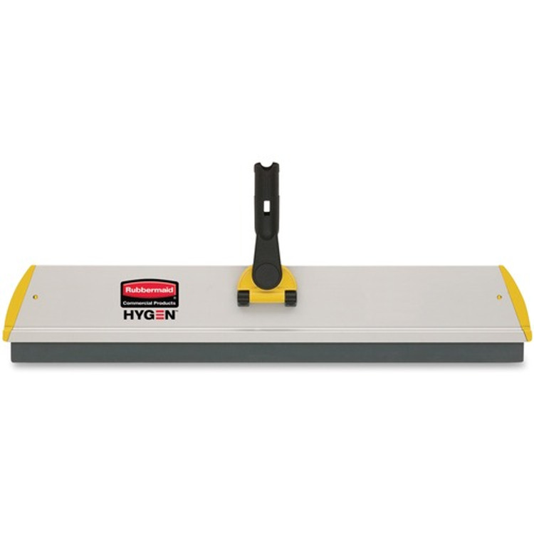 """Rubbermaid Commercial HYGEN 17"""" Quick Connect Wet/Dry Frame, Yellow (RCPQ560YL) 