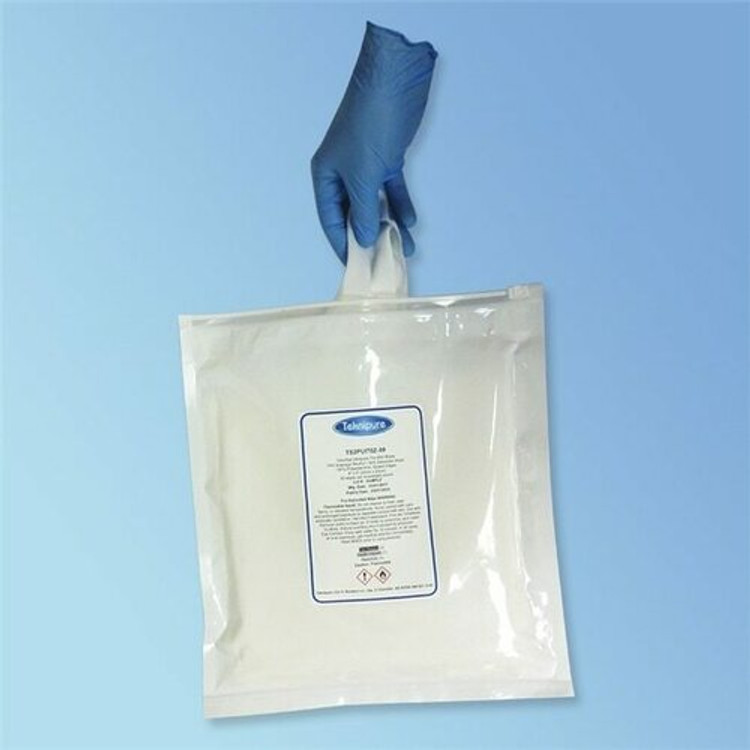 TekniSat 70% IPA Polyester Knit Cleanroom Wipes, Flex Pack