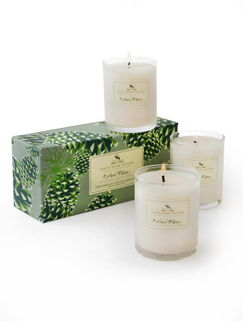 Roland Pine Soy Candle 3 Votive Set