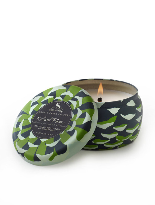 Roland Pine Tin Soy Candle, 6 oz