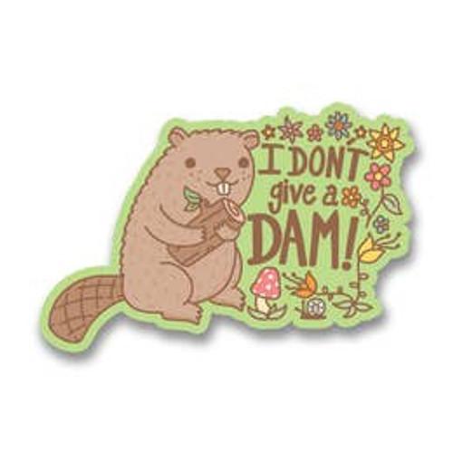 I Don't Give A Dam Beaver Vinyl Sticker