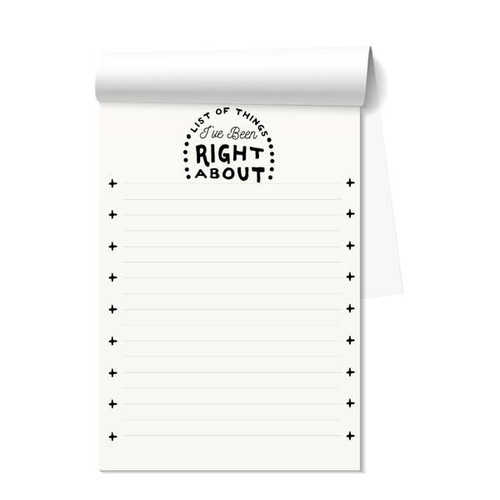 List Of Things I Have Been Right About Notepad