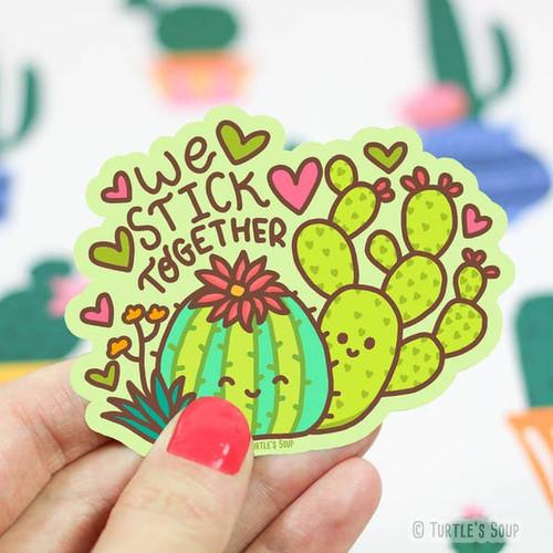 We Stick Together Cacti Sticker