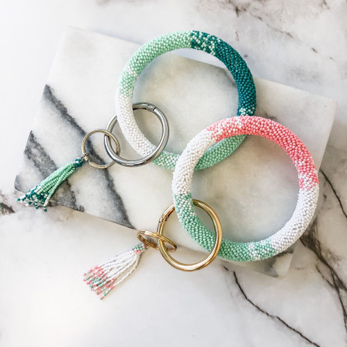 Bring On The Beads Tassel Key Ring