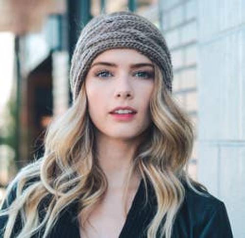 Cable Knit Cutie Headband - Mocha