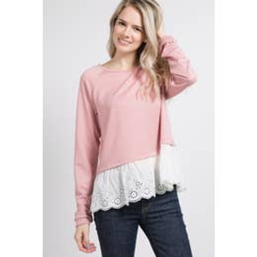 Brighten Your Day Top In Mauve