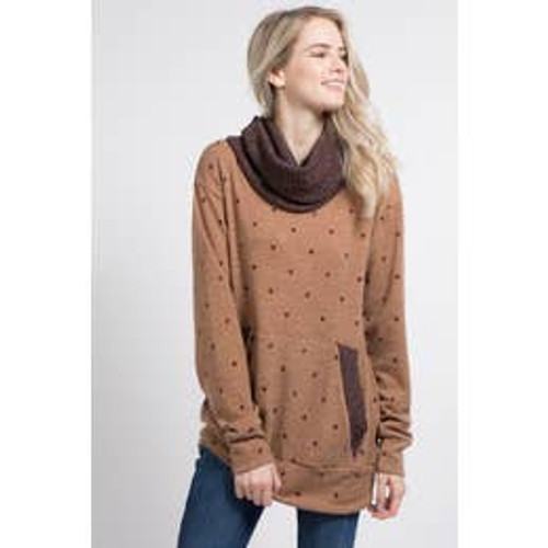 Lazy Day Top In Mocha