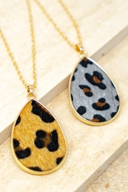 Drop Dead Gorgeous Leopard Necklace in Brown