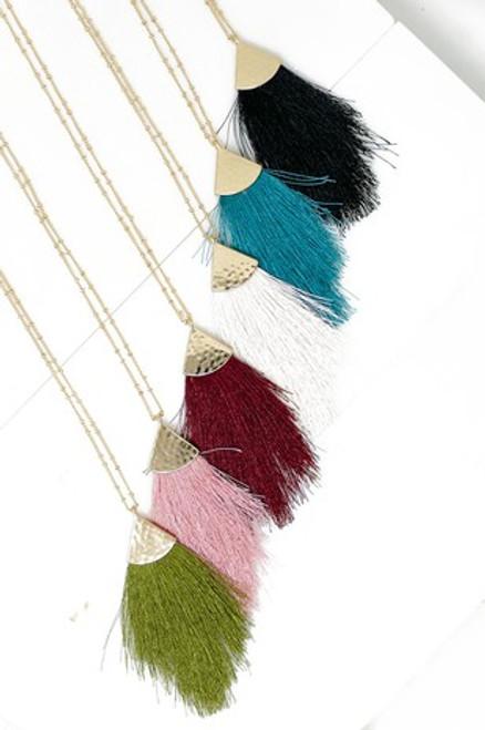 Tremendous Tassel Necklace