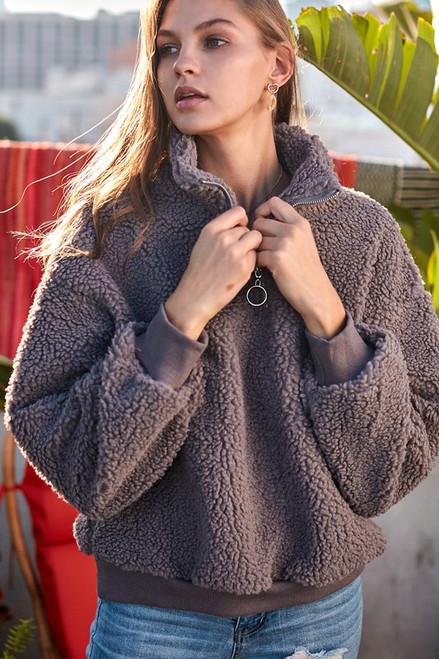 In The Clouds Sherpa Sweater