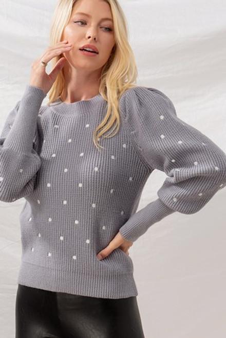 Spot On! Polka Dot Sweater