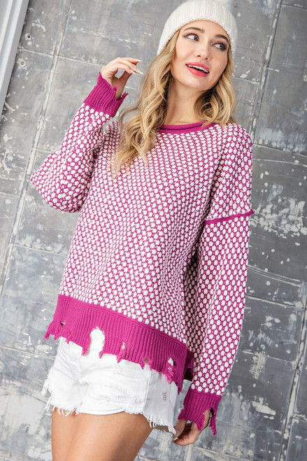 Rip Me Apart Sweater in Orchid