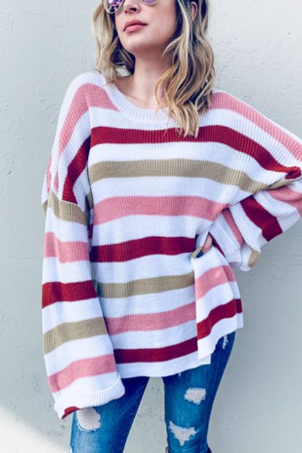 Striped In Love Sweater