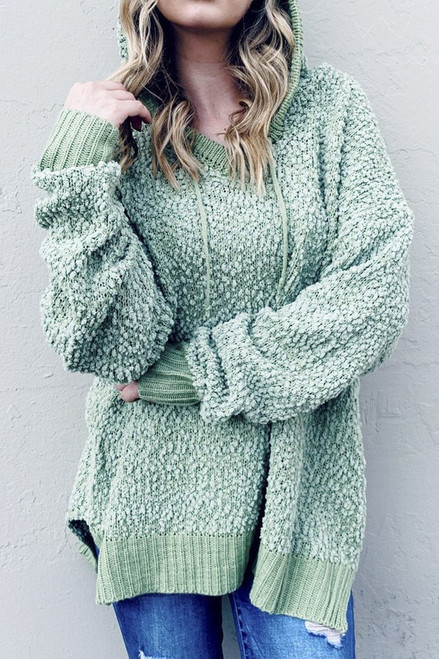 Meant To Be Mine Hoodie Sweater in Sage