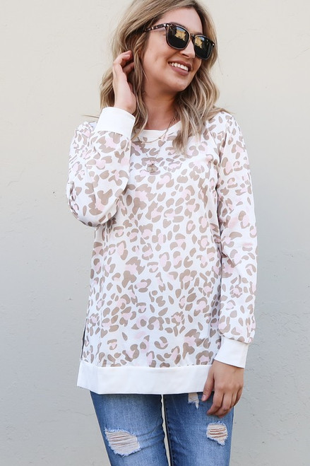 Touch Of Pink Leopard Long Sleeve