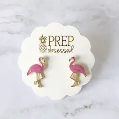 Flocking Fabulous Flamingo Earrings