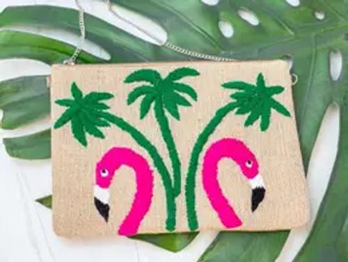 Stand Tall Flamingo Crossbody Bag