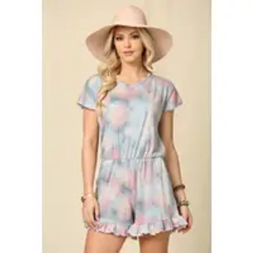 To Dye For - Blue Romper