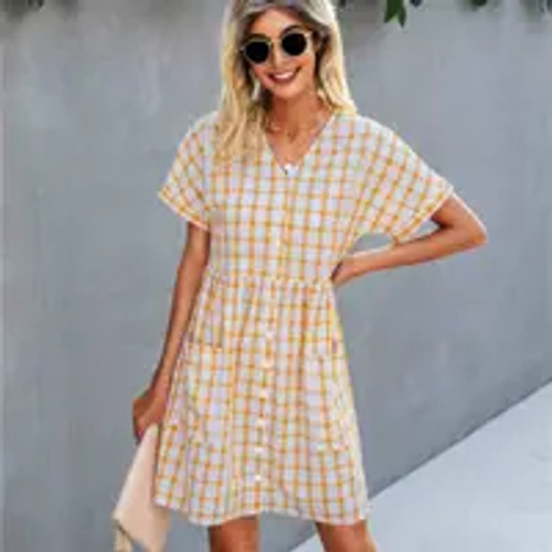 Check It Out Baby Doll Dress