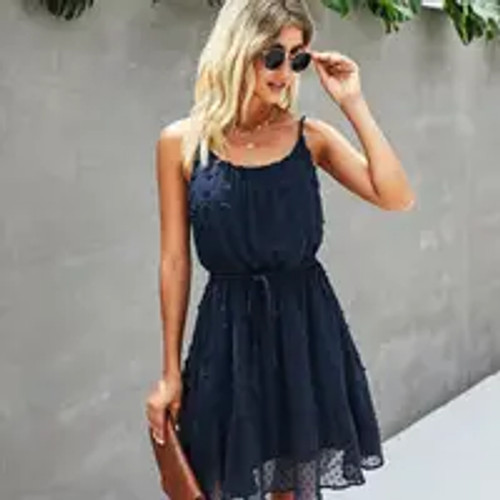 Connect the Dots Navy Dress