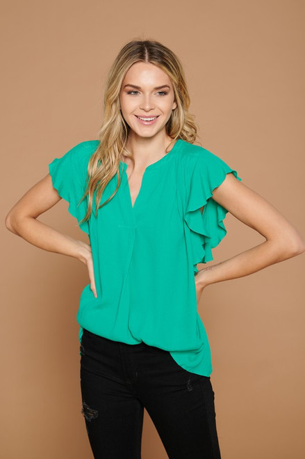 Bring On the Blouse In Green
