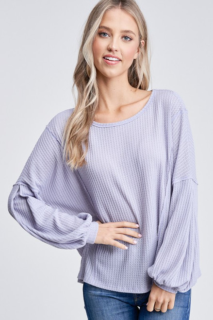 New Beginnings Knit Top In Lilac